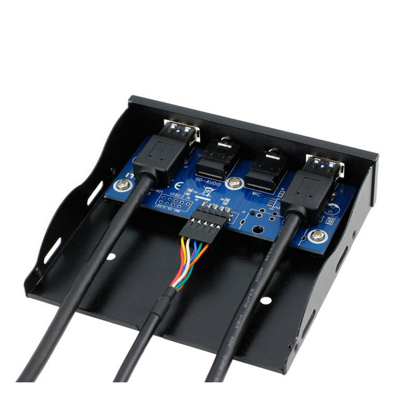 包邮 USB3.0音频软驱位前置面板直正HD-AUDIO音频 19PIN转USB3.0