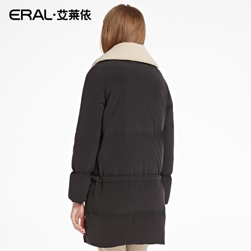 ERAL/艾莱依韩版加厚西装领羽绒服女中长款冬季外套16049-EDAB