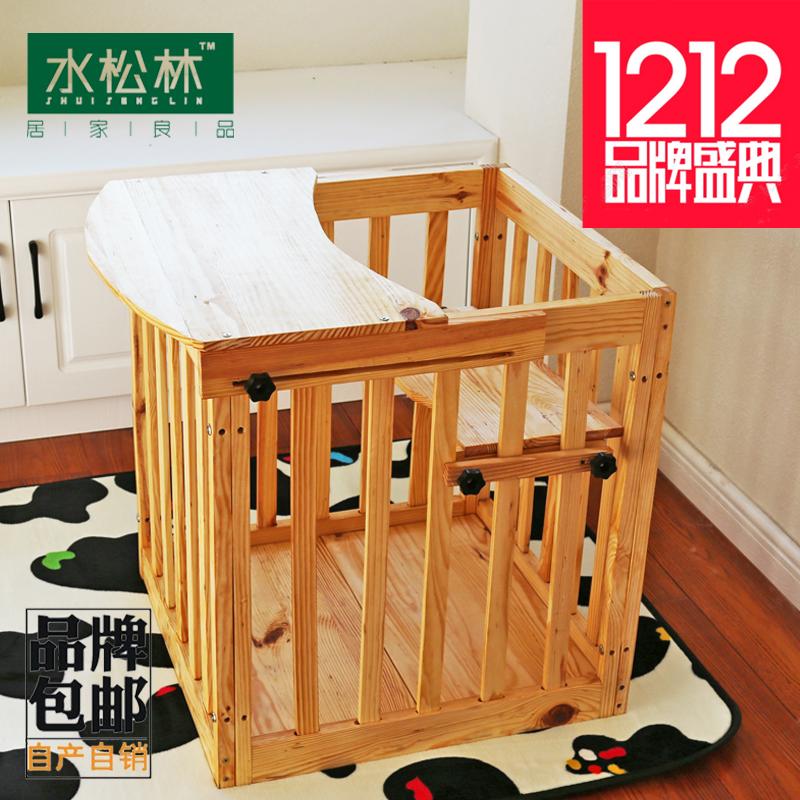 水松林 宝宝安全椅妈妈放心婴儿实木站车儿童站椅站桶多功能餐椅