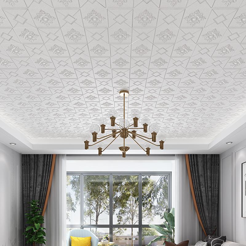立體裝飾護墻保溫材料 3D 泡沫隔音客廳天花板集成吊頂自粘自裝臥室