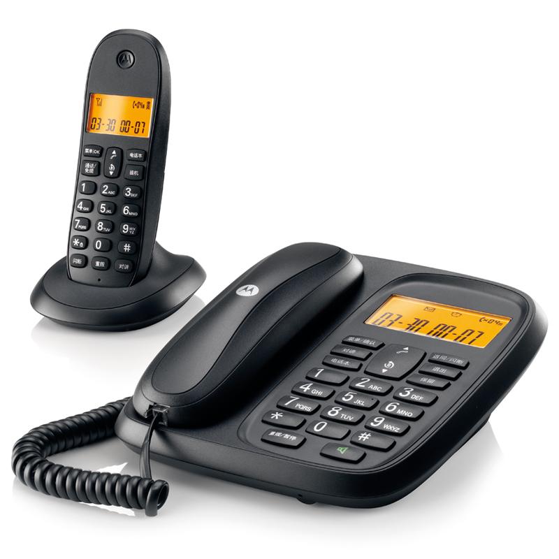 摩托罗拉cl101c 数字无绳电话机 办公子母机 家用无线座机 一拖一