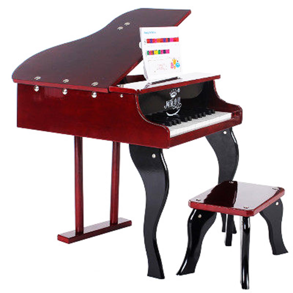 网童奇贝30键木制儿童钢琴木质钢琴入门练习用钢琴礼品小钢琴玩具