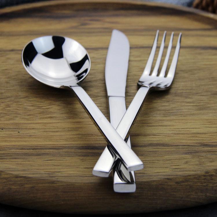 出口德國18-10不鏽鋼西餐刀叉勺牛排刀叉飯勺子湯勺魚刀牛排刀叉