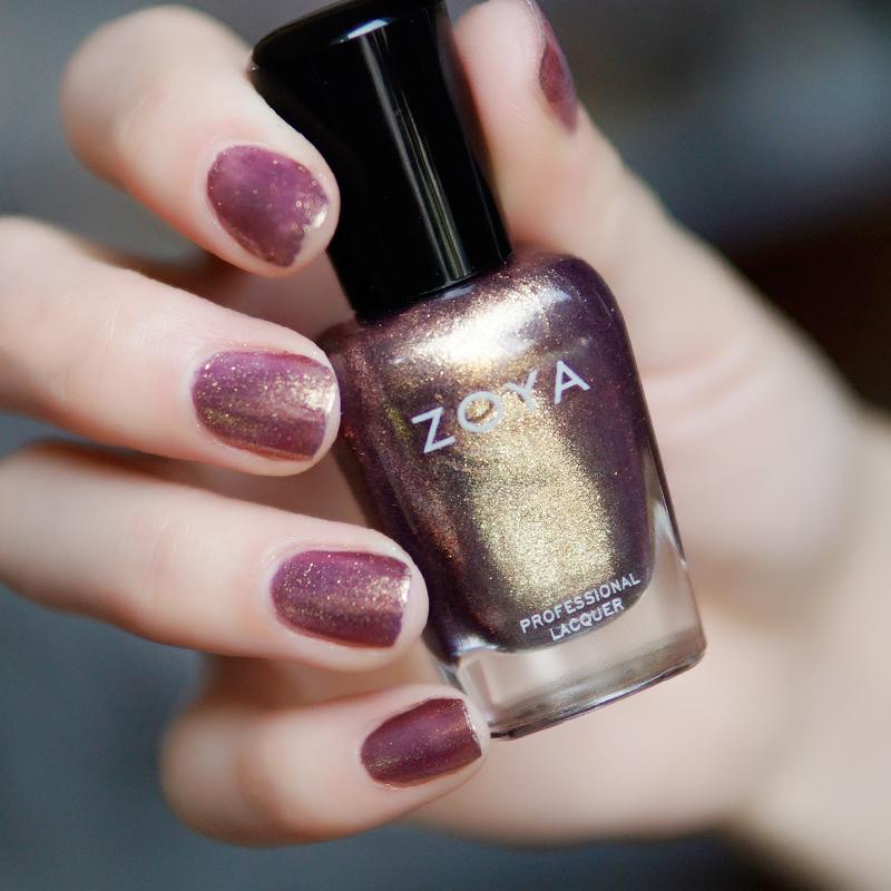 美國Zoya指甲油zp551人魚姬色Faye粉紫金偏光紫金閃網紅仙女持久