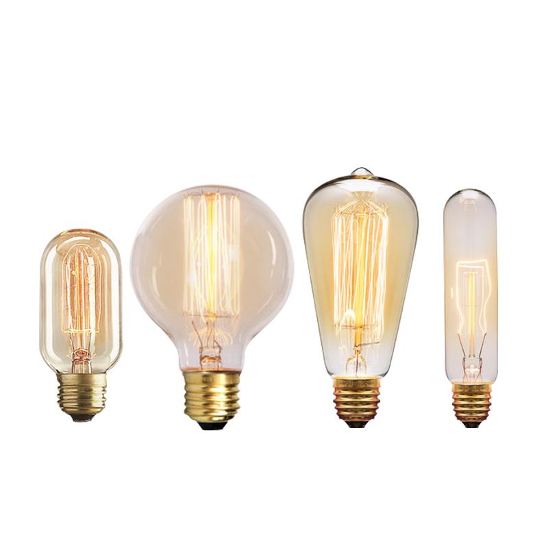 爱迪生白炽欧式复古光源灯泡 仿古复古怀旧 客厅灯卧室灯餐厅吊灯