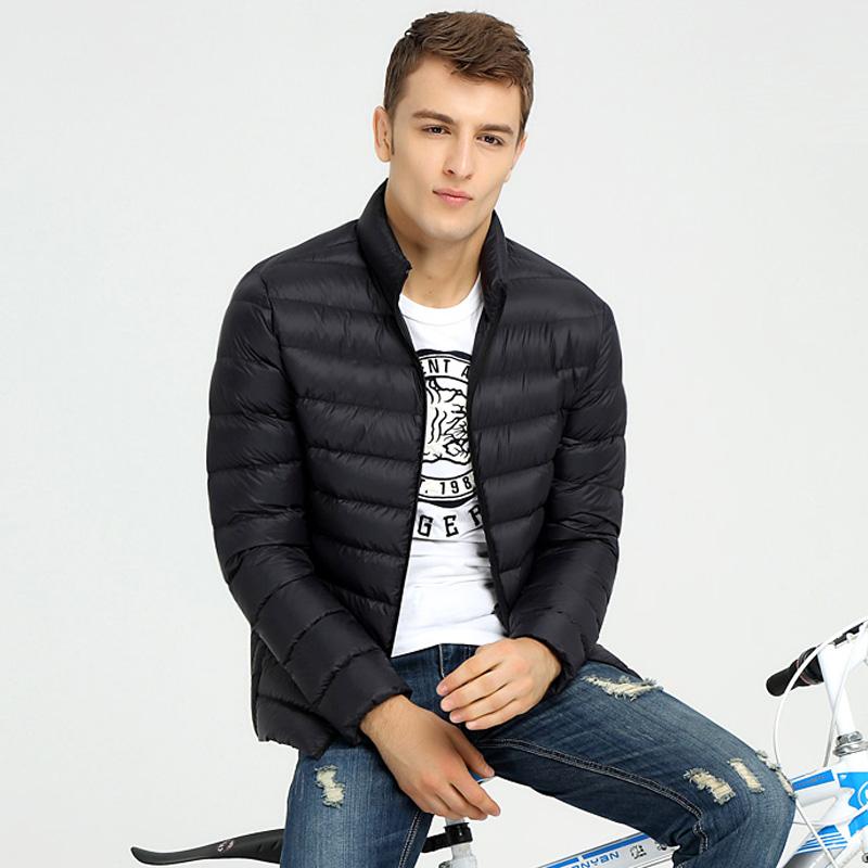 浩缘朋 男士轻薄羽绒服短款修身立领冬季休闲保暖外套潮羽绒衣