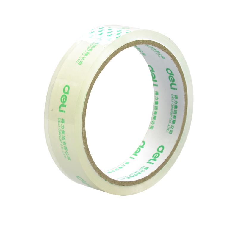 得力封箱胶带 (2.4*30y) 透明胶带 24mm粘胶带 30130中号胶带