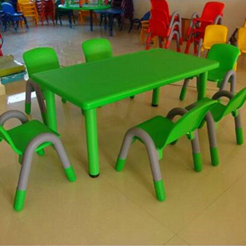 小天才塑料多功能桌子 幼儿园桌 餐厅桌子 手工桌子 早教中心桌子