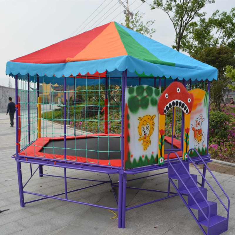儿童大型蹦床圆形蹦蹦床 幼儿园室外设施游设施六角形跳跳床