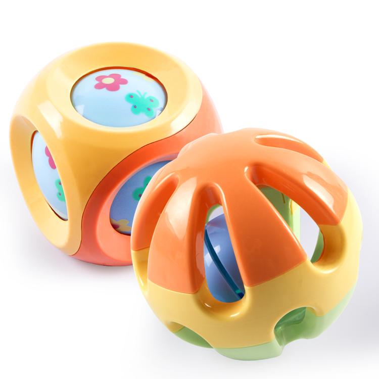 谷雨宝宝叮咚球滚球 婴儿手抓摇铃球玩具 儿童早教益智0-1岁响铃
