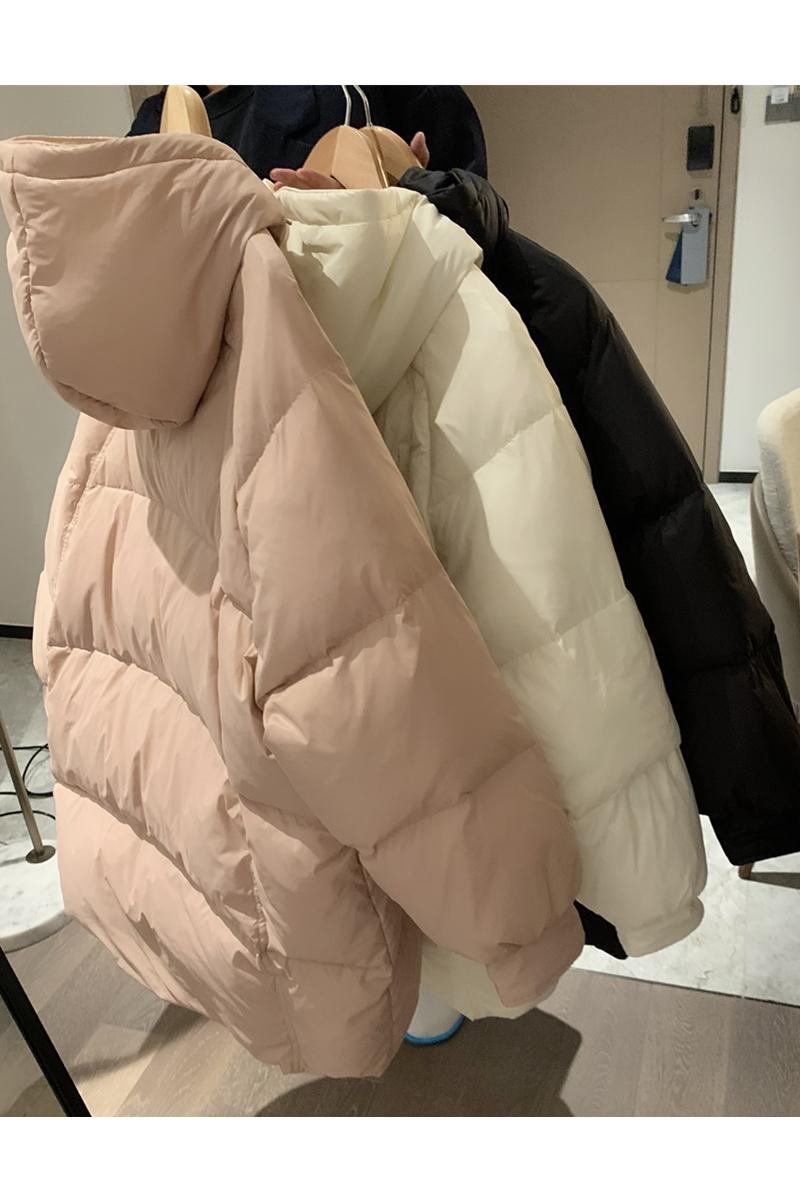 新款连帽加厚减龄韩版宽松中长款羽绒服女冬 2020 大被子 行走 VEEE
