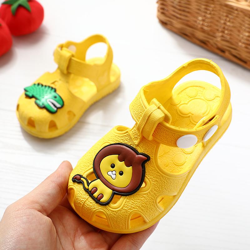 宝宝凉鞋夏季包头塑料软底防滑男童学步鞋婴儿鞋子女童鞋01-2-3岁
