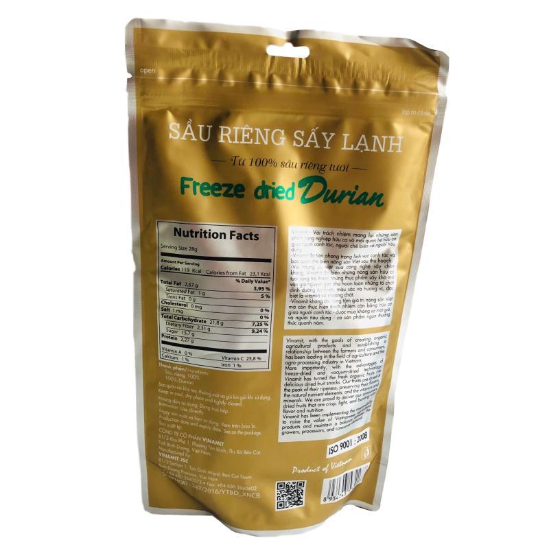 越南代购 vinamit榴莲干 冻干榴莲干越南特产零食脱水果干60克