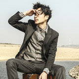 SOARIN British style retro business suit jacket male autumn and winter casual slim dress suit frosting free