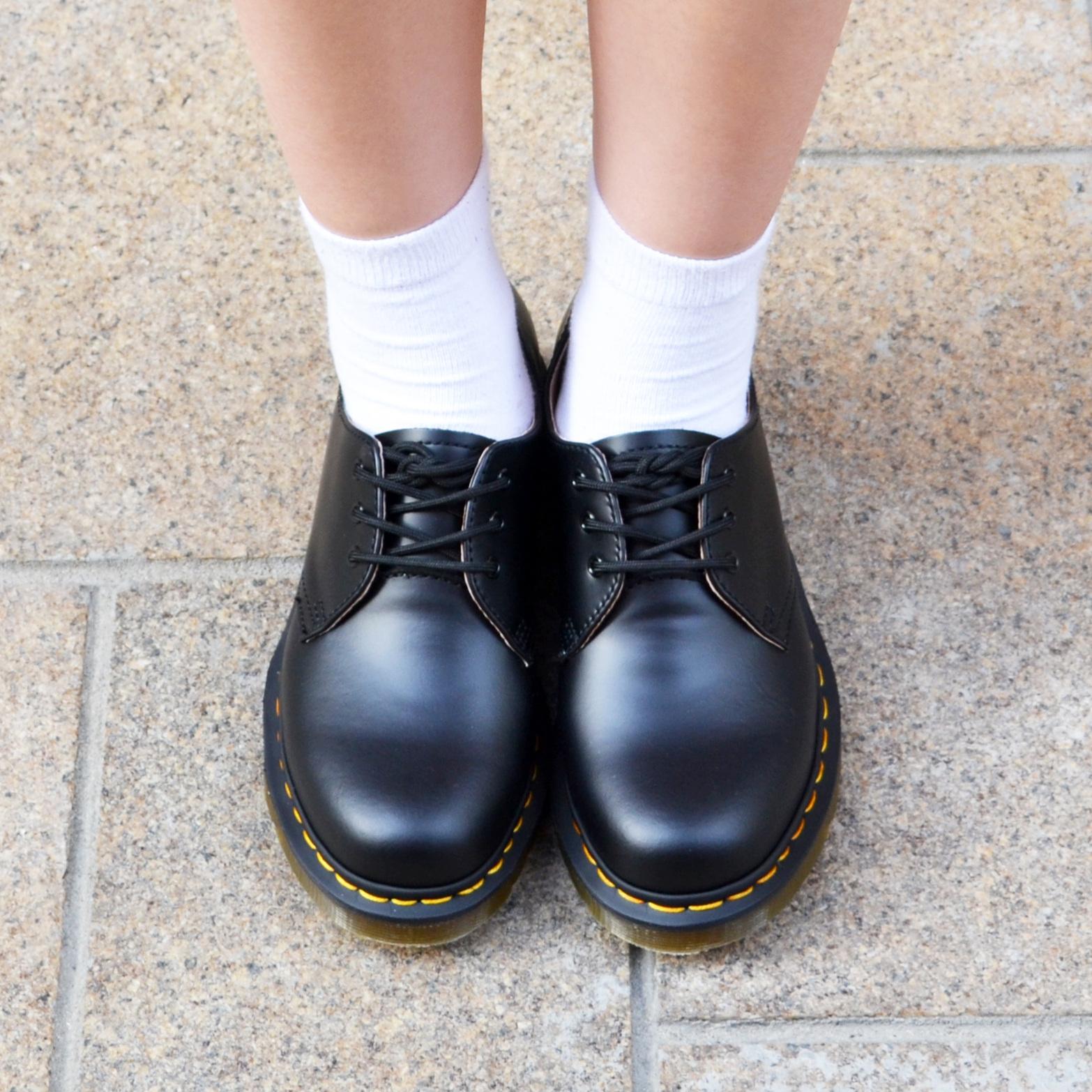 馬丁靴正品低幫英倫男女硬皮德比鞋3孔布洛克1461情侶黑色馬丁鞋