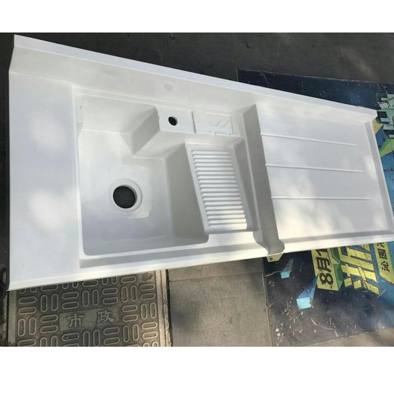 石英石台面洗衣池洗衣盆洗衣机柜盆洗衣槽带搓板洗衣台盆阳台定制