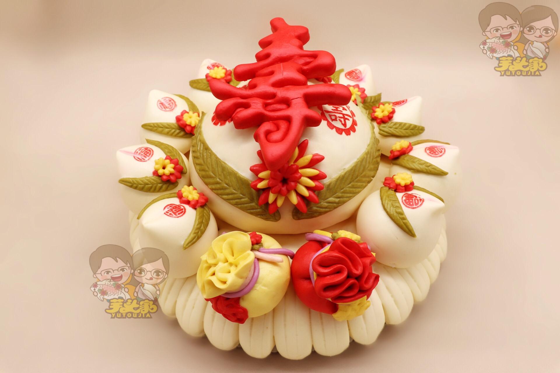 芋头家胶东特色大饽饽生日礼物寿桃老人礼品纯手工花样馒头花馍