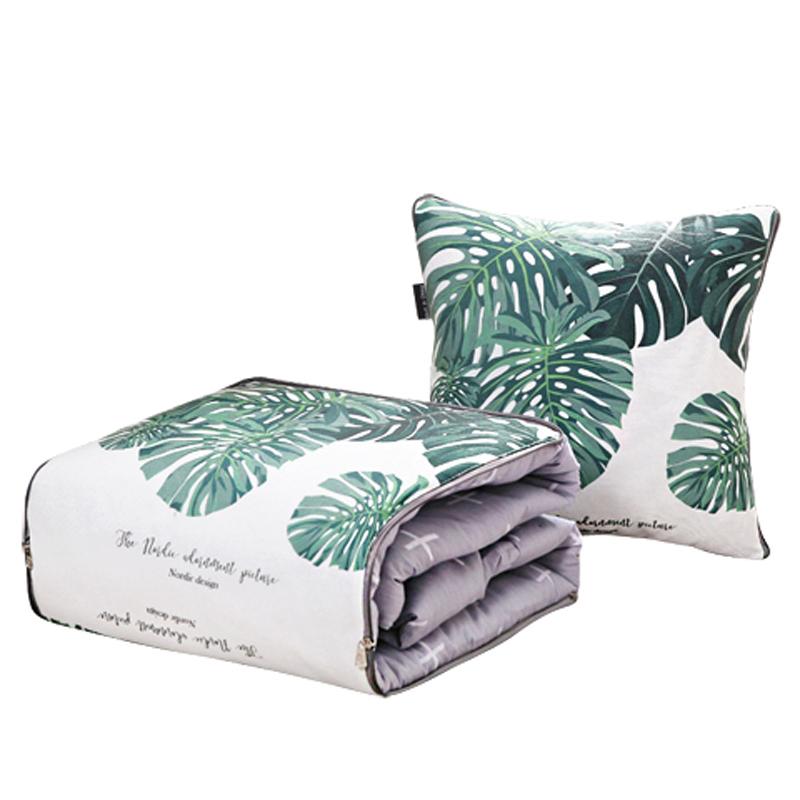 纯棉抱枕被子两用全棉办公室午睡枕头被汽车靠垫折叠空调被夏凉被