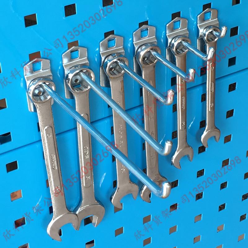 包邮五金工具架方孔板金属单直挂钩工具挂板配件加厚洞洞板挂架