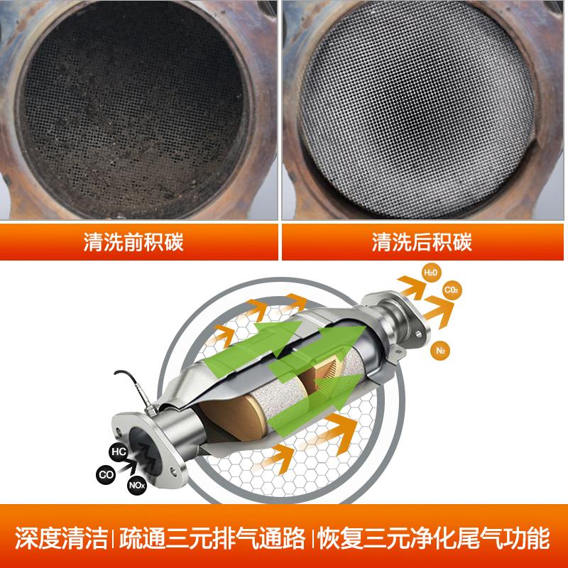 汽车三元催化清洗剂发动机内部免拆尾气清洁剂节气门崔化油除积碳