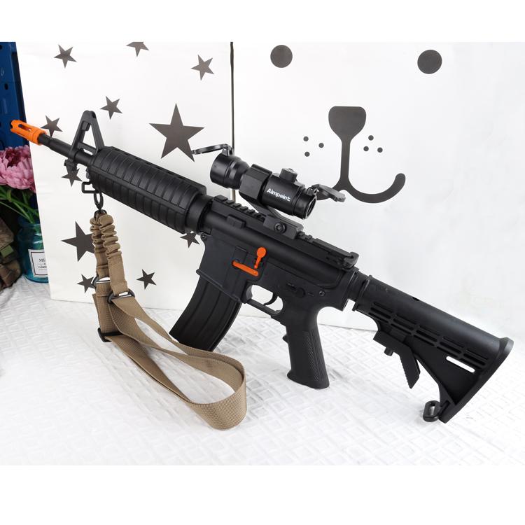 锦明9代8代M4下供弹电动连发水弹枪吸水晶蛋抢成人CS玩具枪可发射