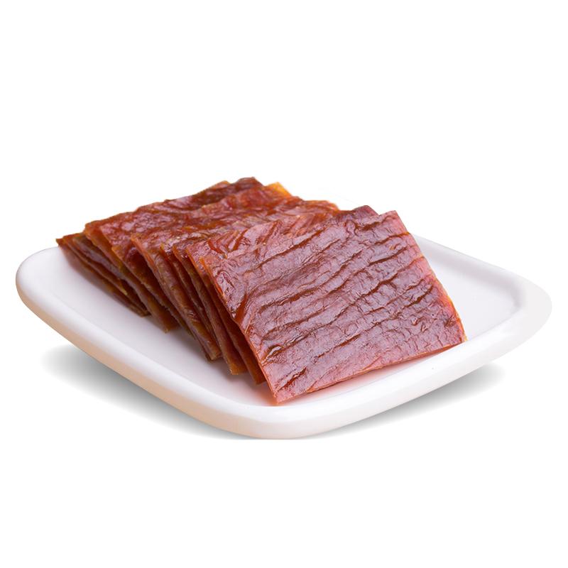 靖江特产猪肉铺金奖精制独立小包装猪肉干片 袋 2 358g 双鱼猪肉脯