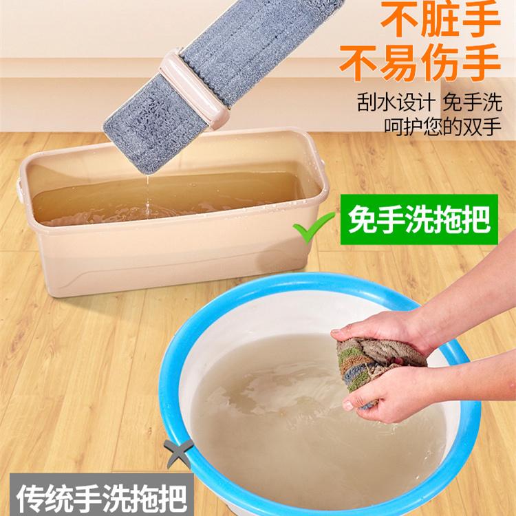 大号免手洗平板拖把42cm懒人拖瓷砖地木地板家用拖布旋转干湿两用