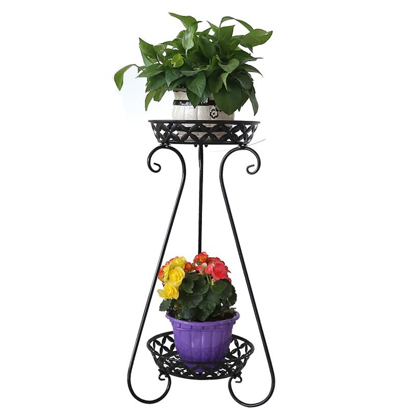 铁艺欧式花架多层客厅落地阳台吊兰花盘架绿萝花架子花几特价包邮