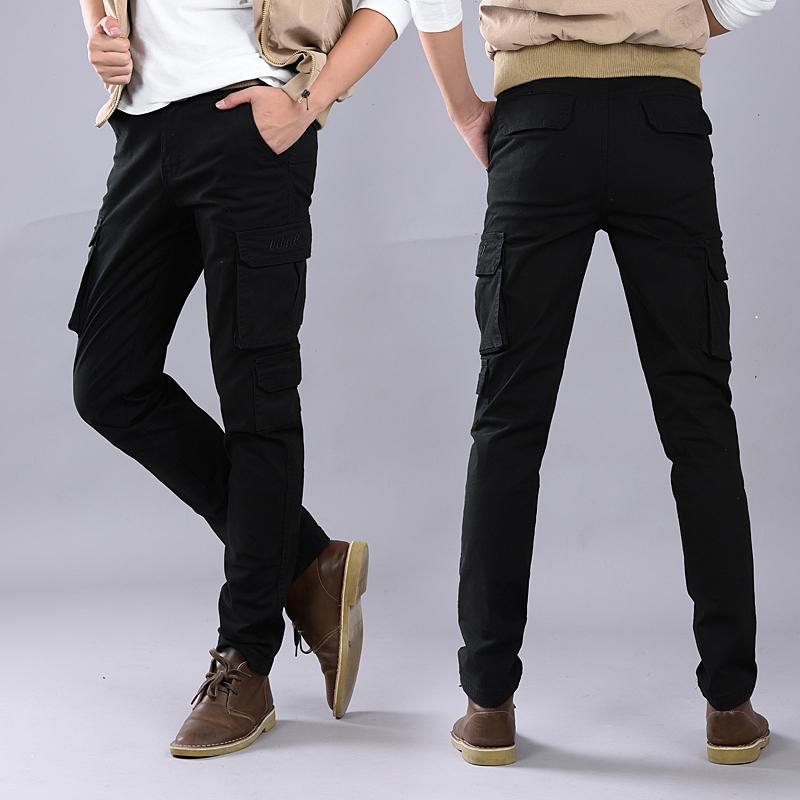 天天特价加厚羽绒裤男外穿可脱卸内胆运动保暖修身多口袋弹力棉裤