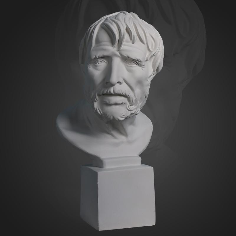 H50CM 塞内卡阿里斯多芬 石膏像 海盗 石膏头像石膏教具几何体