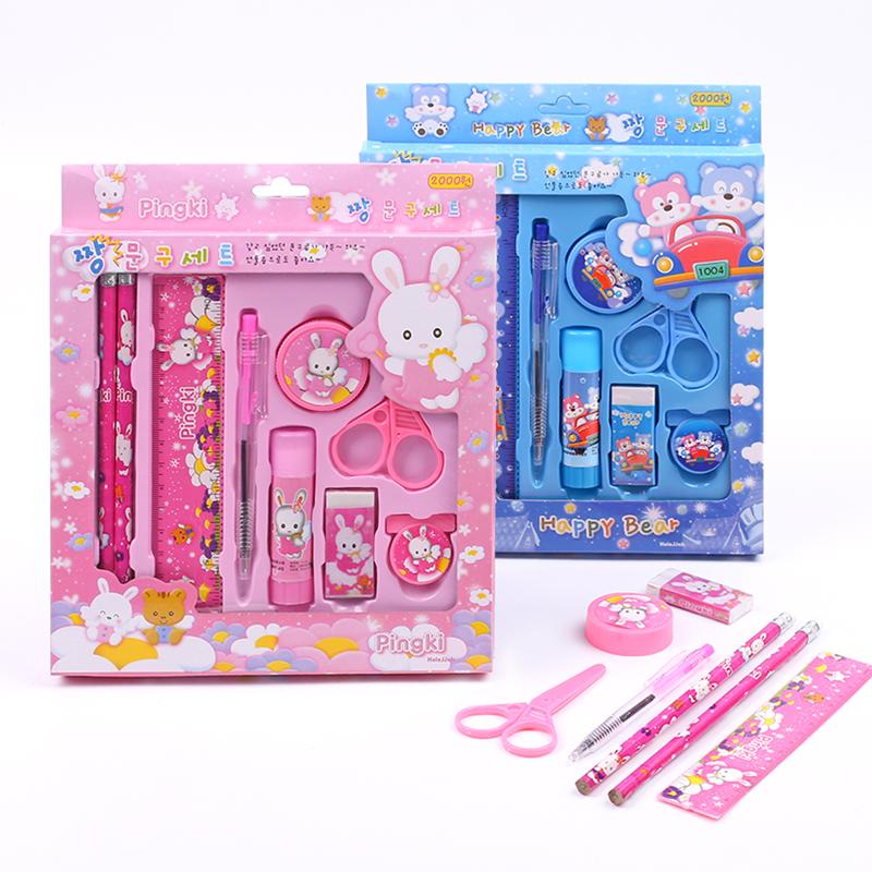 开学礼品文具套装 礼盒 九件套 幼儿园小朋友生日礼物儿童节礼物