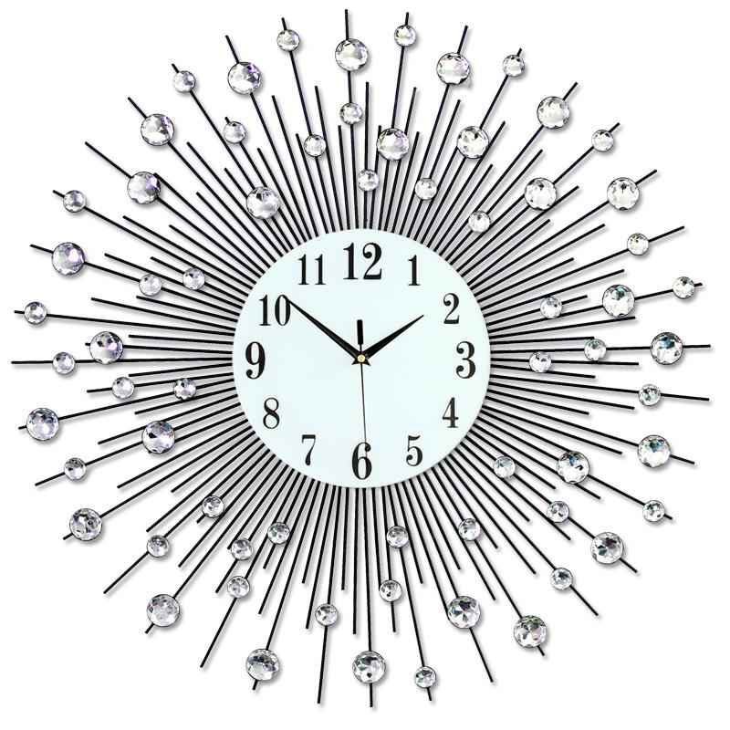 家居钟表挂钟客厅现代简约欧式创意时尚个姓时钟卧室静音石英钟