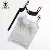 Umix bra vest integrated underwear bra cup with chest pad vest pajamas women without rims sling KA05