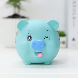 可爱防摔卡通情侣猪存钱罐