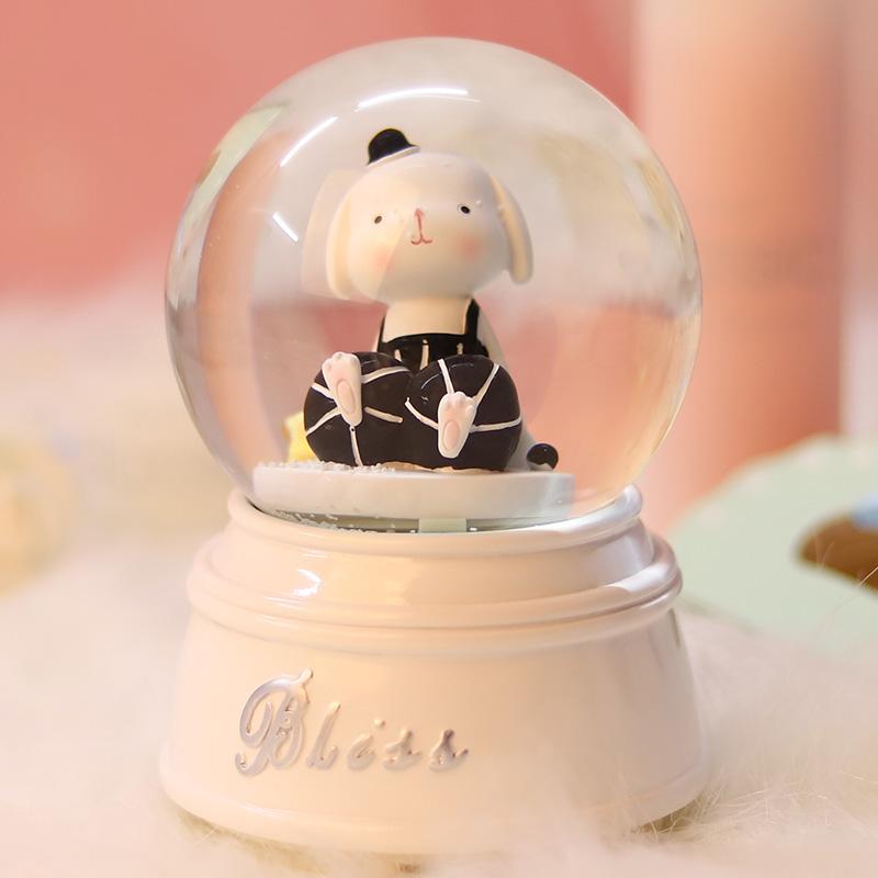 创意精美生日礼物水晶球音乐八音盒