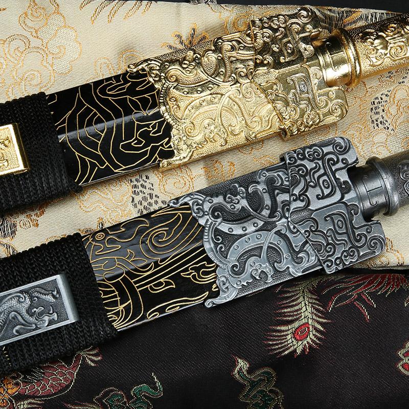 龙泉精龙宝剑高锰钢硬剑 金属柄汉剑镇宅收藏刀剑硬剑唐剑 未开刃