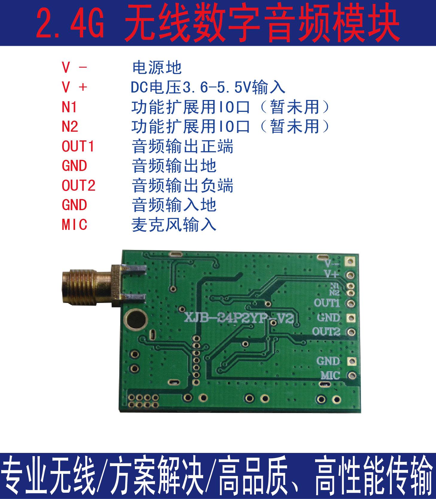 无线数字对讲机 声音监护 语音 音频传输模块 全双工 自动跳频