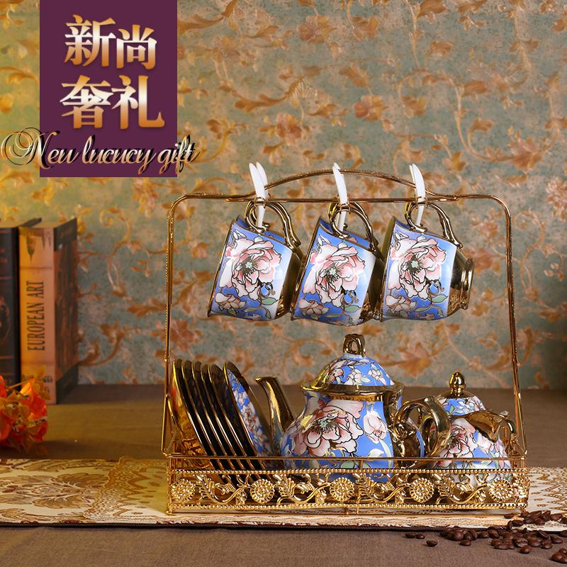 简翊咖啡杯套装套具 整套欧式骨瓷陶瓷杯碟茶具茶杯家用水杯子