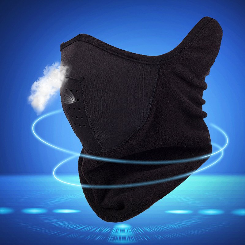 保暖防風騎行面罩冬季戶外男女抓絨圍脖防寒運動護臉騎車半臉口罩