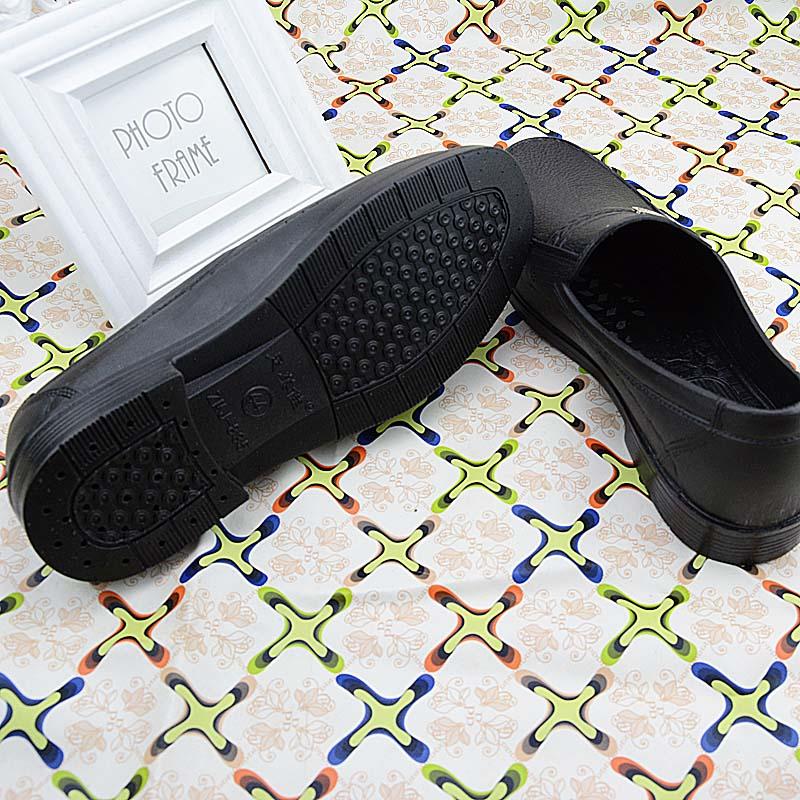 夏季厨房透气防臭防滑防水工作鞋耐磨塑料厚底耐穿爸爸鞋厨师鞋男