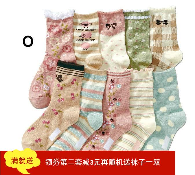 女童襪nissen襪子新款女襪中筒襪日系兒童襪子純棉秋冬可愛全棉襪
