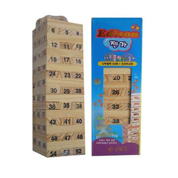 比优 儿童木质玩具叠叠高 叠叠乐抽木条积木亲子游戏小号分区包邮