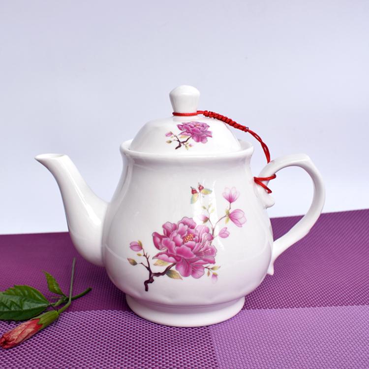 家用过滤防爆泡茶壶凉水壶陶瓷油壶酱醋壶咖啡壶 陶瓷茶壶单壶