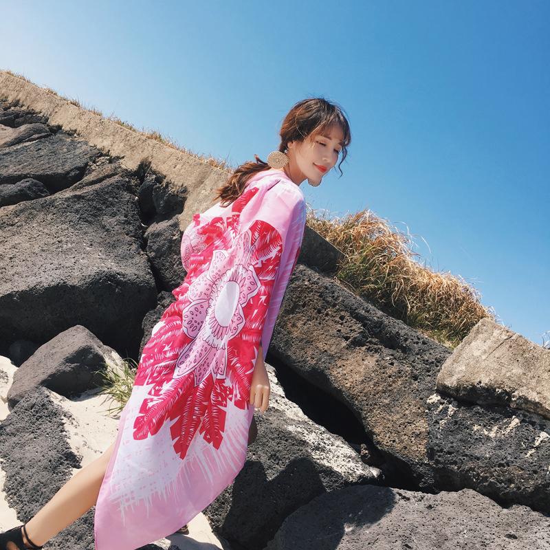 民族风两用长款薄款大披肩女秋冬沙漠拍照海边旅游保暖围巾沙滩巾