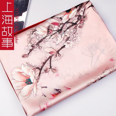 上海故事丝巾真丝桑蚕丝围巾女春秋款冬季薄百搭洋气时尚杭州丝绸