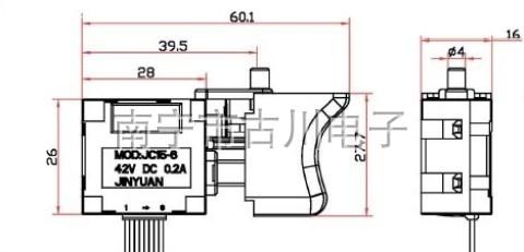 无刷电动扳手调速开关大艺2106通用开关驱动板配件电动工具开关