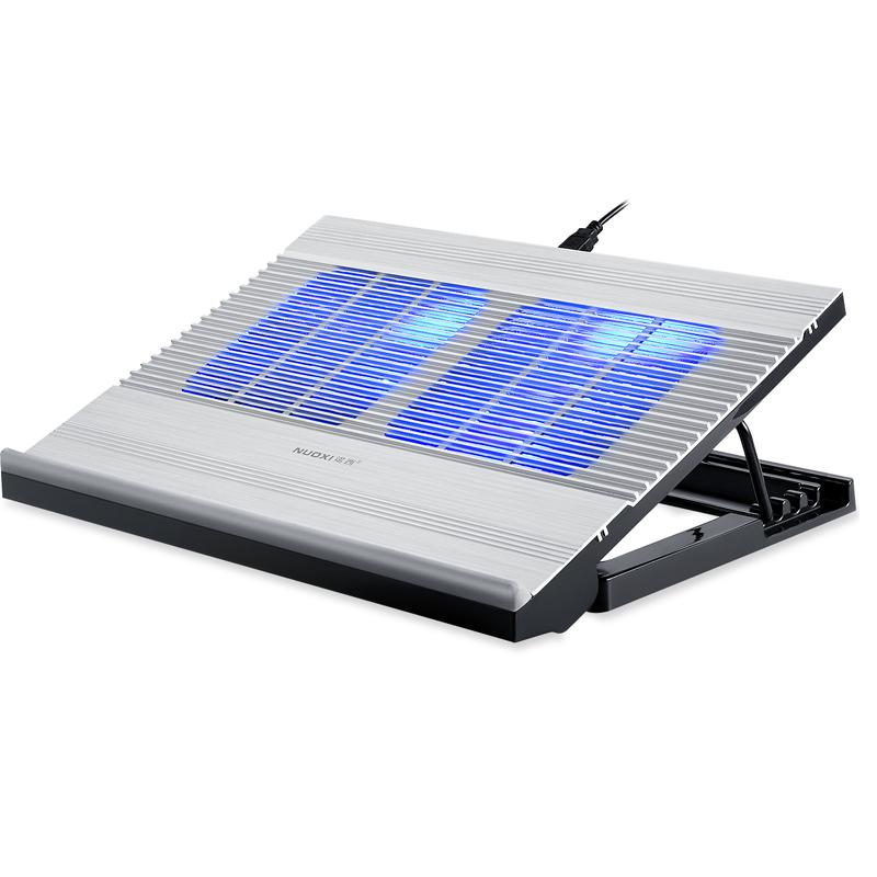 神舟精盾G97E T67 T77 T96E Z7M-KP5SC笔记本散热板支架15.6寸 联想戴尔电脑通用 铝合金底座水冷 风扇散热器