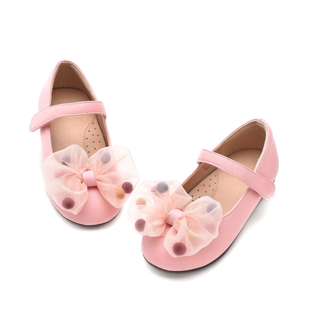 mrbaby原创童鞋2018春秋甜美蝴蝶结公主鞋时尚儿童鞋女童单鞋皮鞋