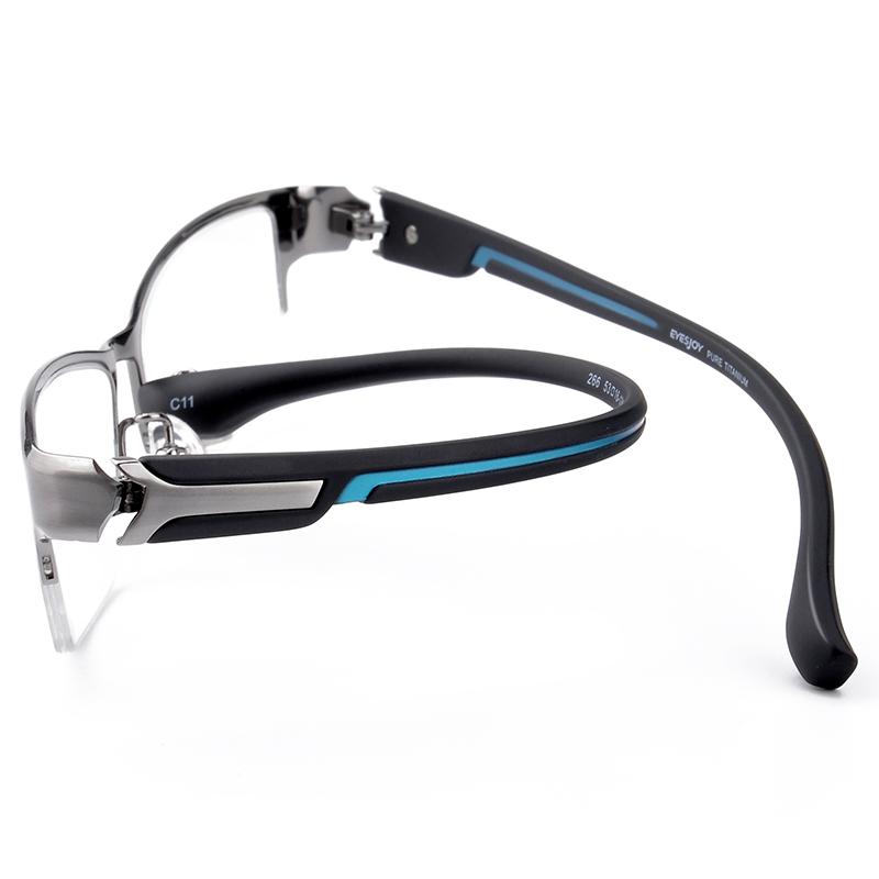 眼镜近视男款有度数可配商务半框纯钛眼镜框男士大脸眼镜架眼睛框