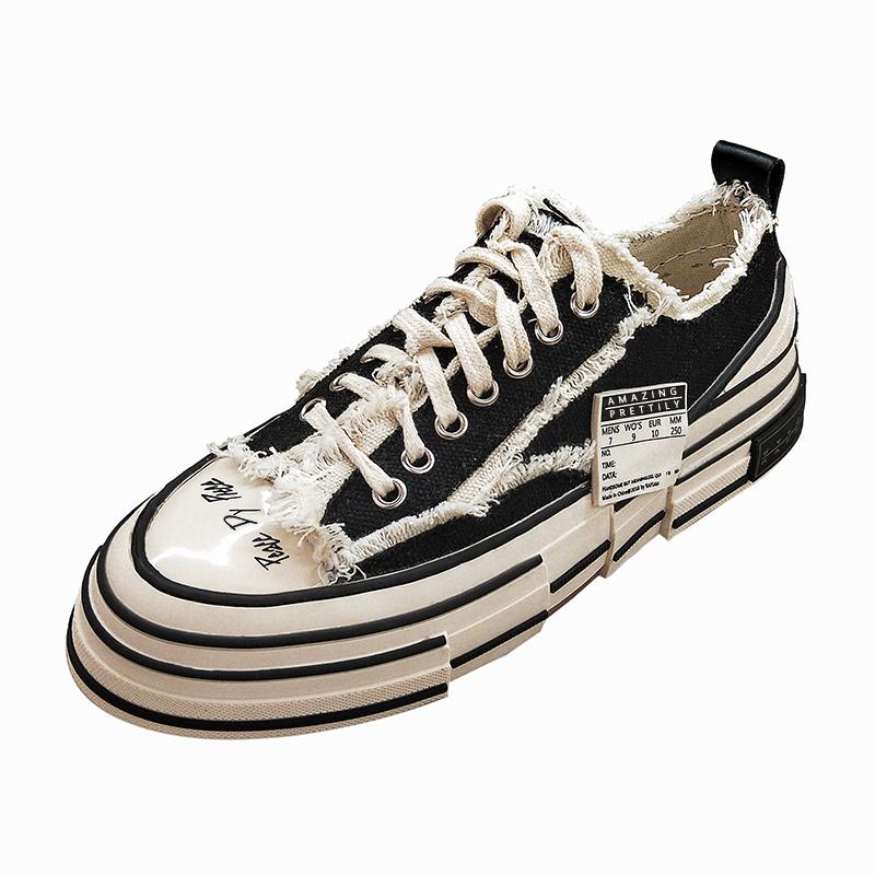 做旧休闲厚底松糕帆布鞋韩版网红透气街拍板鞋小布鞋女潮鞋 超火